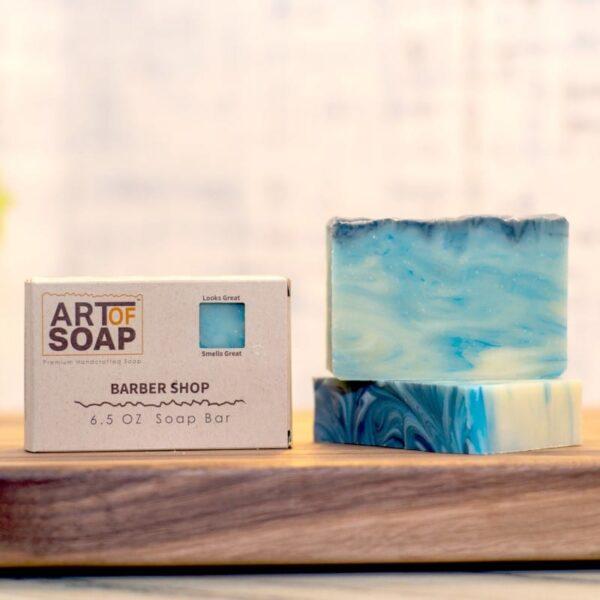 natural organic barber shop soap bars from art of soap