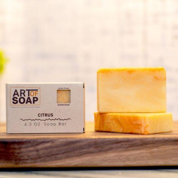natural organic citrus soap bars from art of soap