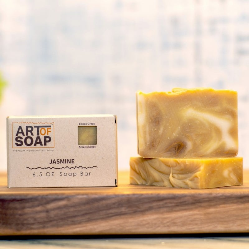 natural organic jasmine soap bars from art of soap