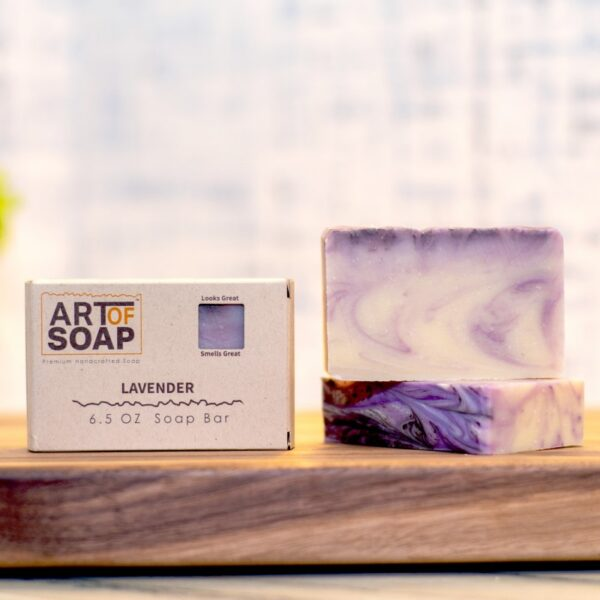 natural organic lavender soap bars from art of soap