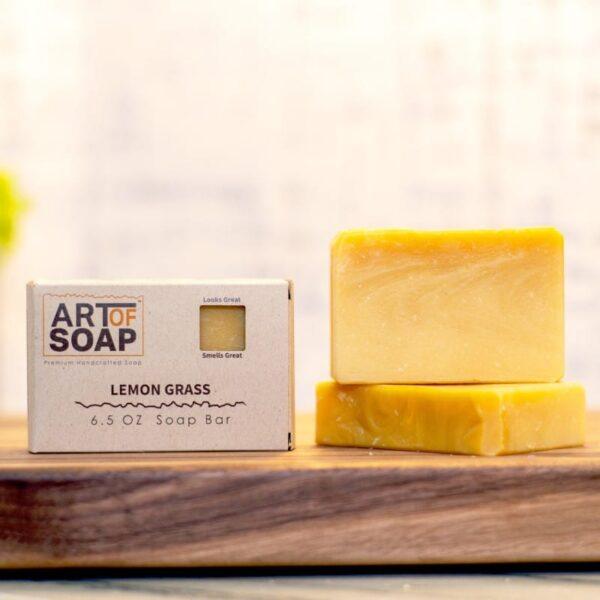 natural organic lemon grass soap bars from art of soap