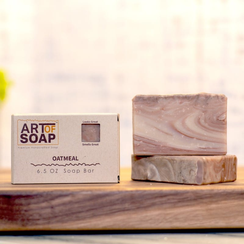 natural organic oatmeal soap bars from art of soap