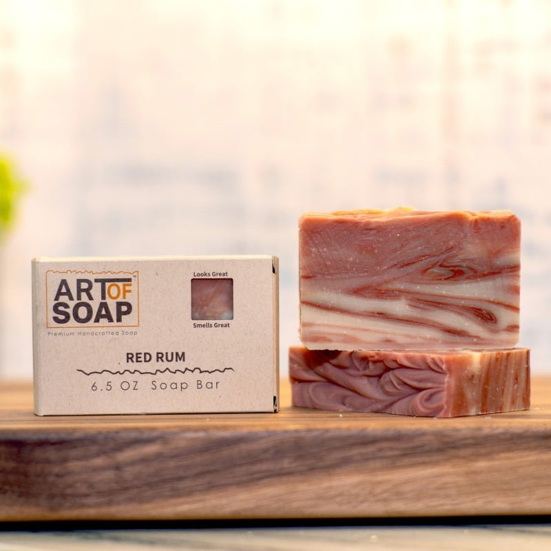 natural organic red rum soap bars from art of soap