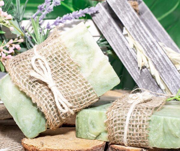 art of soap Tea Tree and Eucalyptus scented cbd soap product premium cannabinoid soap