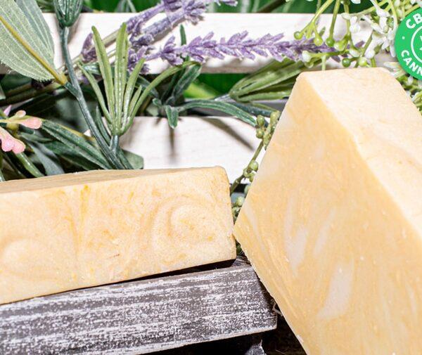 Art of Soap Jasmine pure CBD Soap Bar Product Display