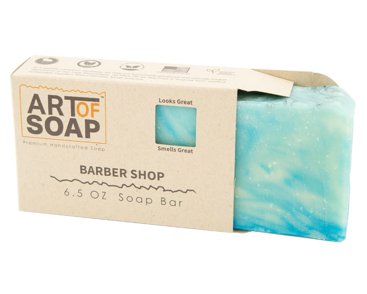 Art of Soap Premium Handcrafted Barbershop Soap Bar inside box