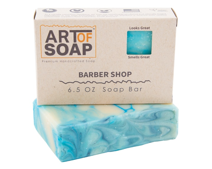 Art of Soap Premium Handcrafted Barber Shop Soap Bar and Box