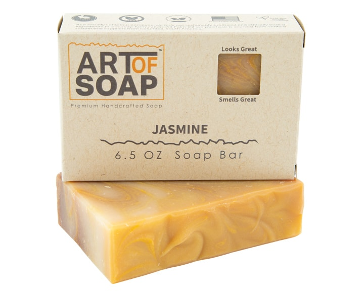 Art of Soap Premium Handcrafted Jasmine Soap Bar and Box