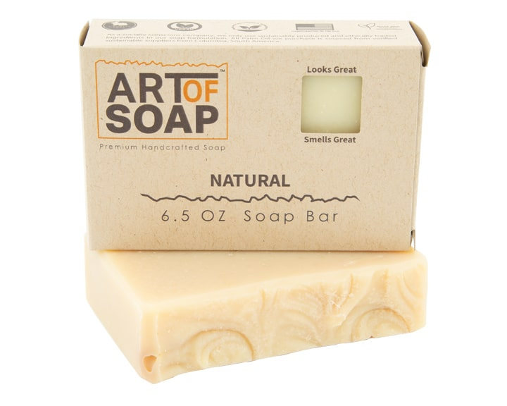 Art of Soap Premium Handcrafted Unscented Soap Bar and Box