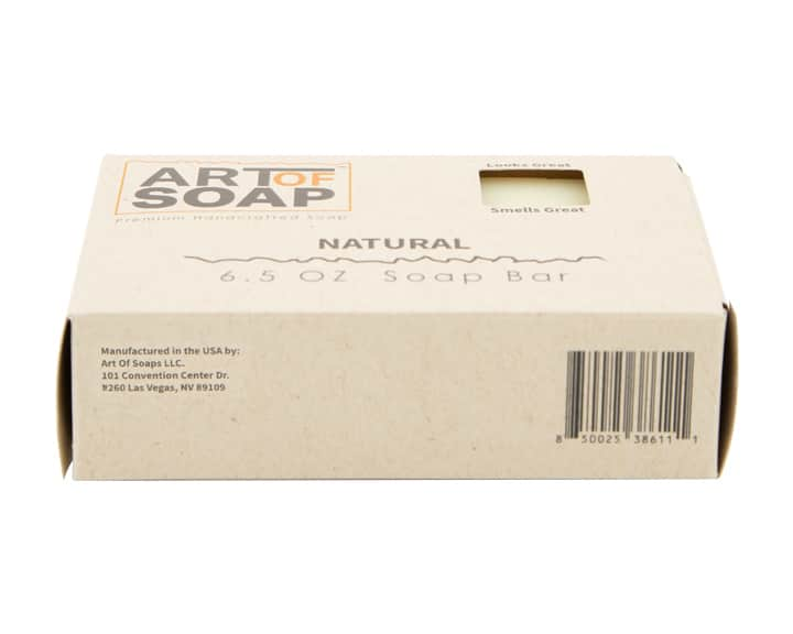Art of Soap All Natural Unscented Soap Bar Box Bottom View