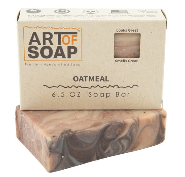 Art of Soap Premium Handcrafted Oatmeal Soap Bar and Box