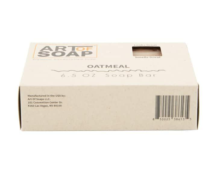 Art of Soap All Natural Oatmeal Soap Bar Box Barcode Bottom View