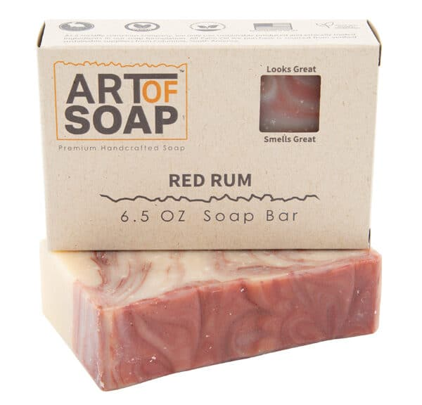 Art of Soap Premium Handcrafted Red Rum Soap Bar and Box