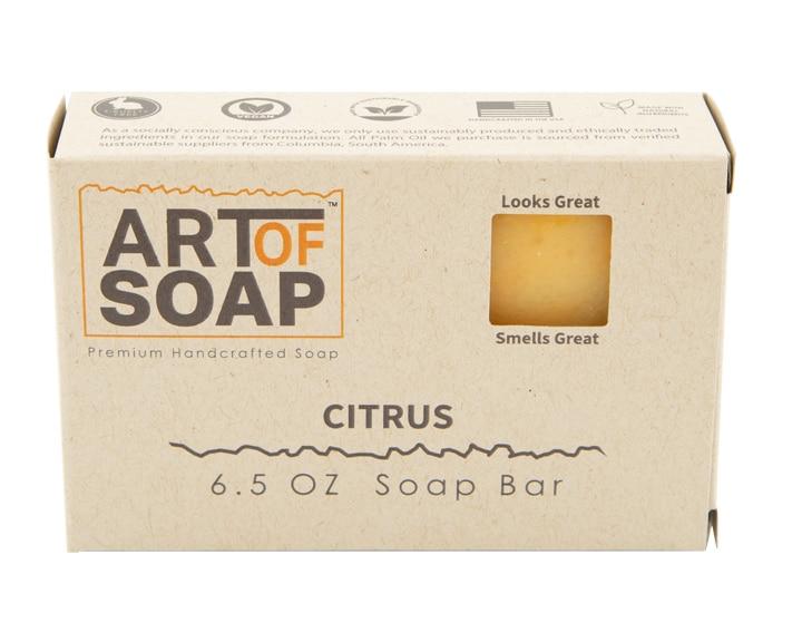 Art of Soap All Natural Premium Citrus Soap Box Design