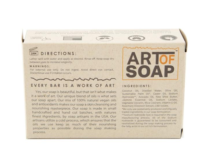 Art of Soap Handcraft Jasmine CBD Soap Bar Premium Ingredients