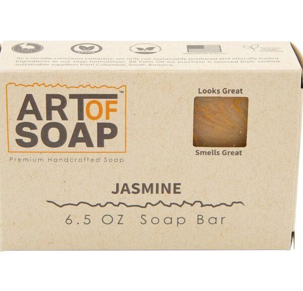 Art of Soap All Natural Premium Jasmine Soap Box Design
