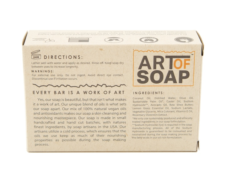 Art of Soap Handcraft Lemongrass Soap Bar Premium Ingredients