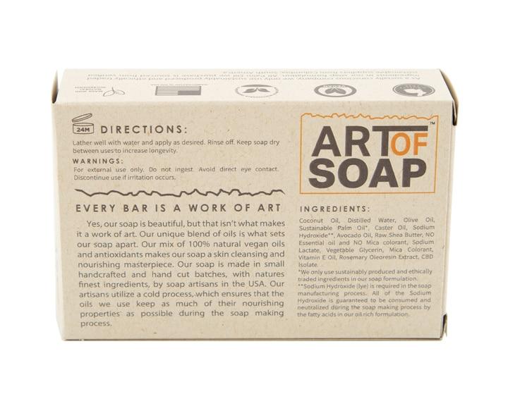 Art of Soap Handcraft Unscented CBD Soap Bar Premium Ingredients