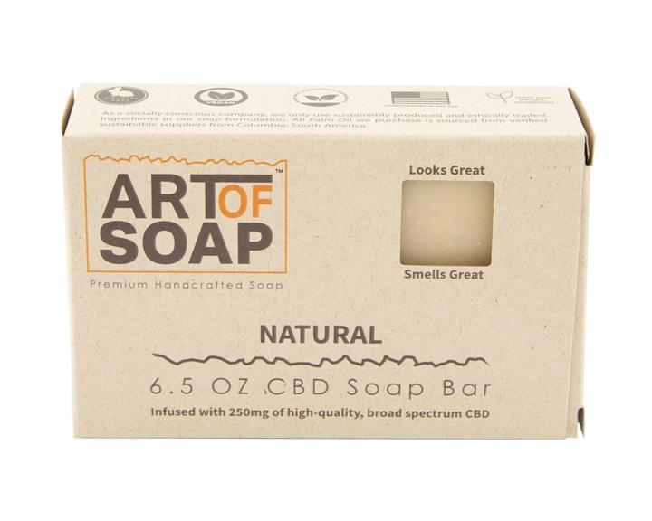 Art of Soap All Natural Premium Unscented CBD Soap Box Design