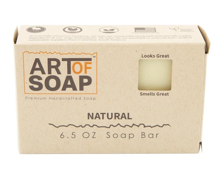 Art of Soap All Natural Premium Unscented Soap Box Design