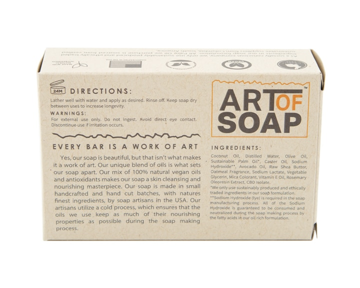 Art of Soap Handcraft Oatmeal CBD Soap Bar Premium Ingredients