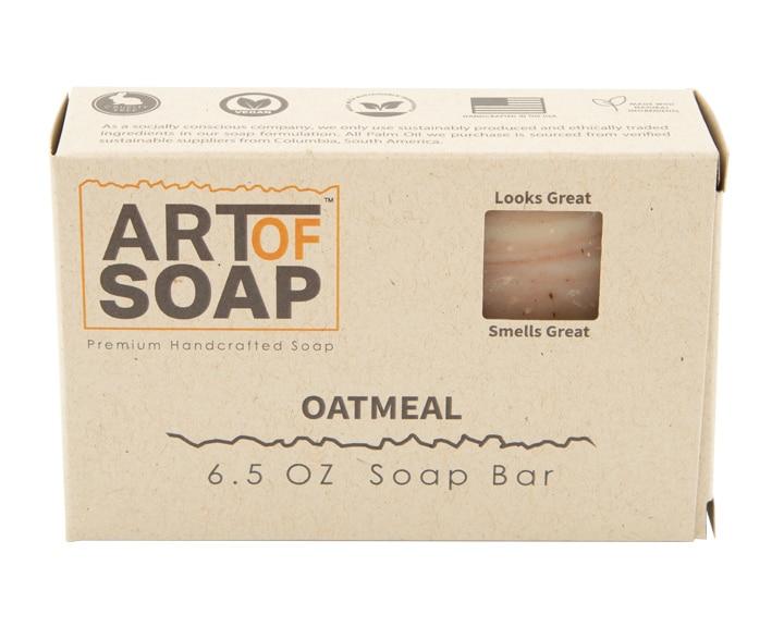 Art of Soap All Natural Premium Oatmeal Soap Box Design