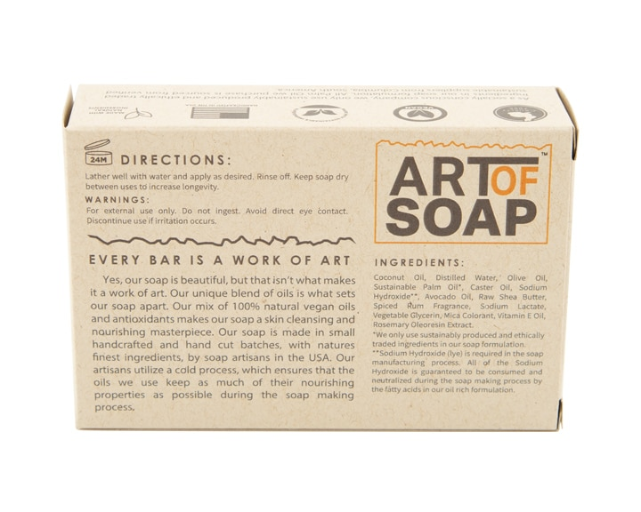 Art of Soap Handcraft Red Rum Soap Bar Premium Ingredients