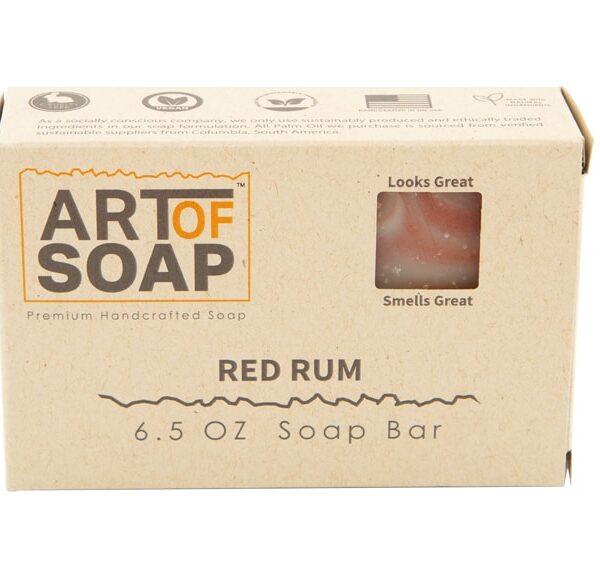 Art of Soap All Natural Premium Red Rum Soap Box Design