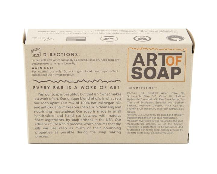 Art of Soap Handcraft Tea Tree and Eucalyptus CBD Soap Bar Premium Ingredients