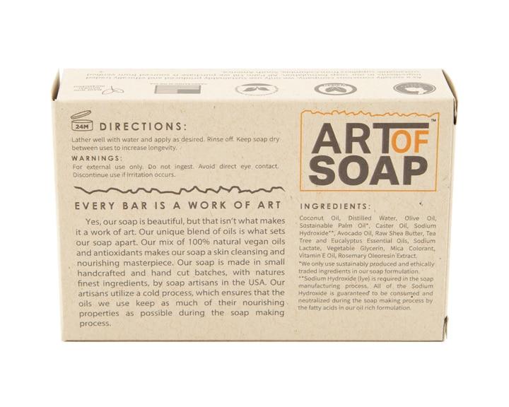 Art of Soap Handcraft Tea Tree and Eucalyptus Soap Bar Premium Ingredients